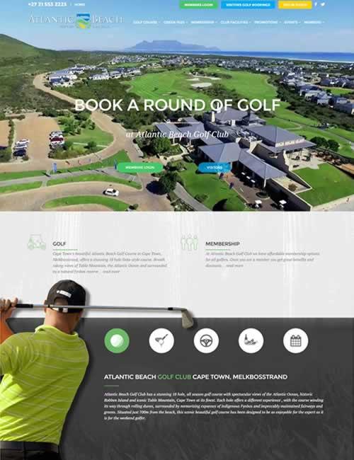 Atlantic Beach Golf Club Wordpress Website Design