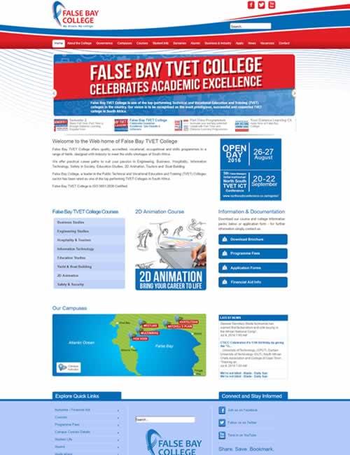 False Bay College Wordpress Website Design
