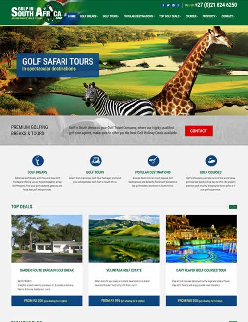 Golf in South Africa Wordpress Website Design