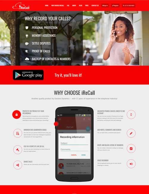 iReCall Wordpress Website Design
