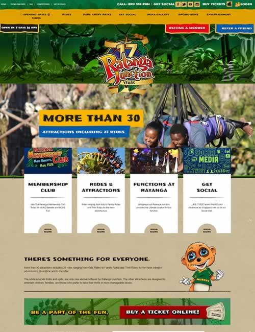 Ratanga Junction Wordpress Website Design