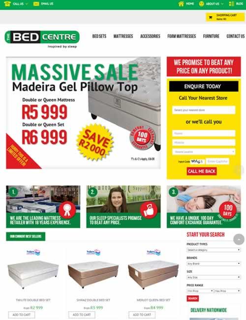 The Bed Centre Wordpress Website Design
