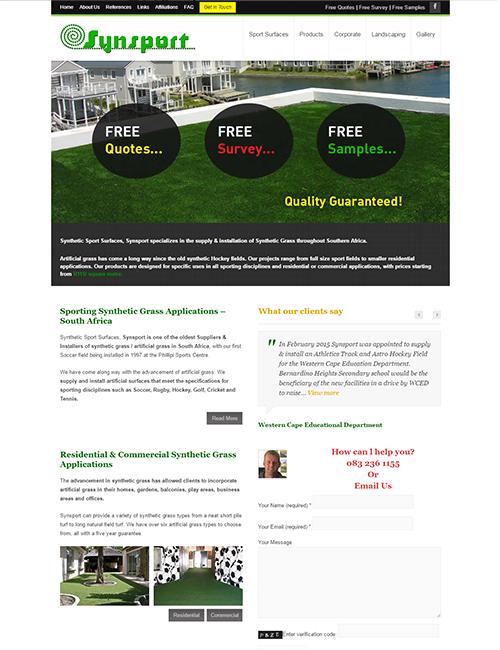 Synsport Wordpress Website Design